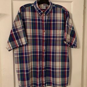 Vintage Arrow Sport Plaid Button Down Sz L
